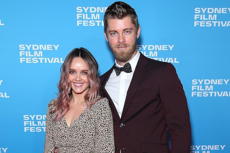 Rebecca Breeds and her husband Luke Mitchell