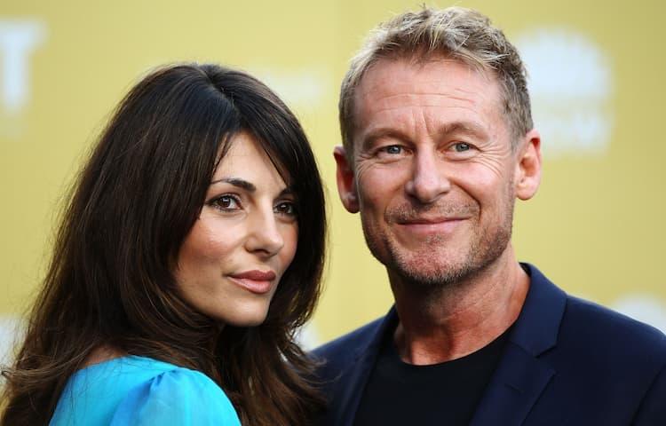Richard Roxburgh and his wife Silvia Colloca