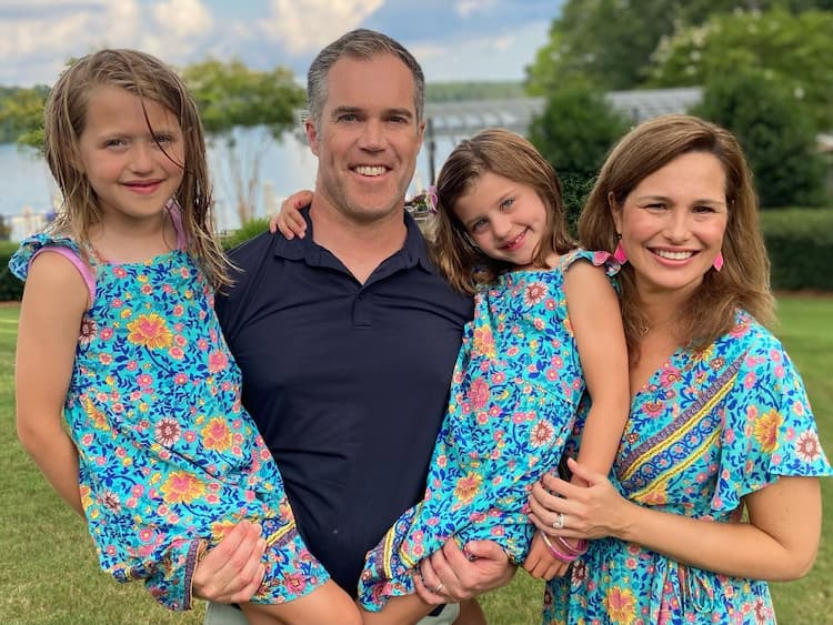 Alex Liggitt, his wife and two daughters Photo