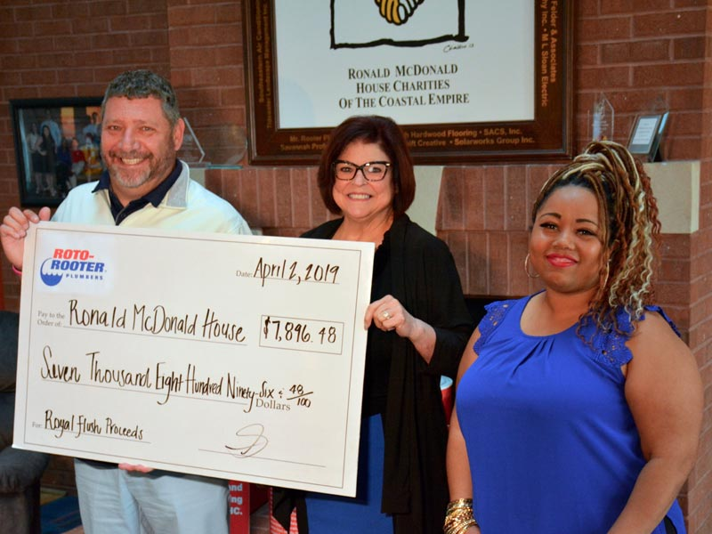 Roto-Rooter Presents Over $7,500 to the Ronald McDonald House