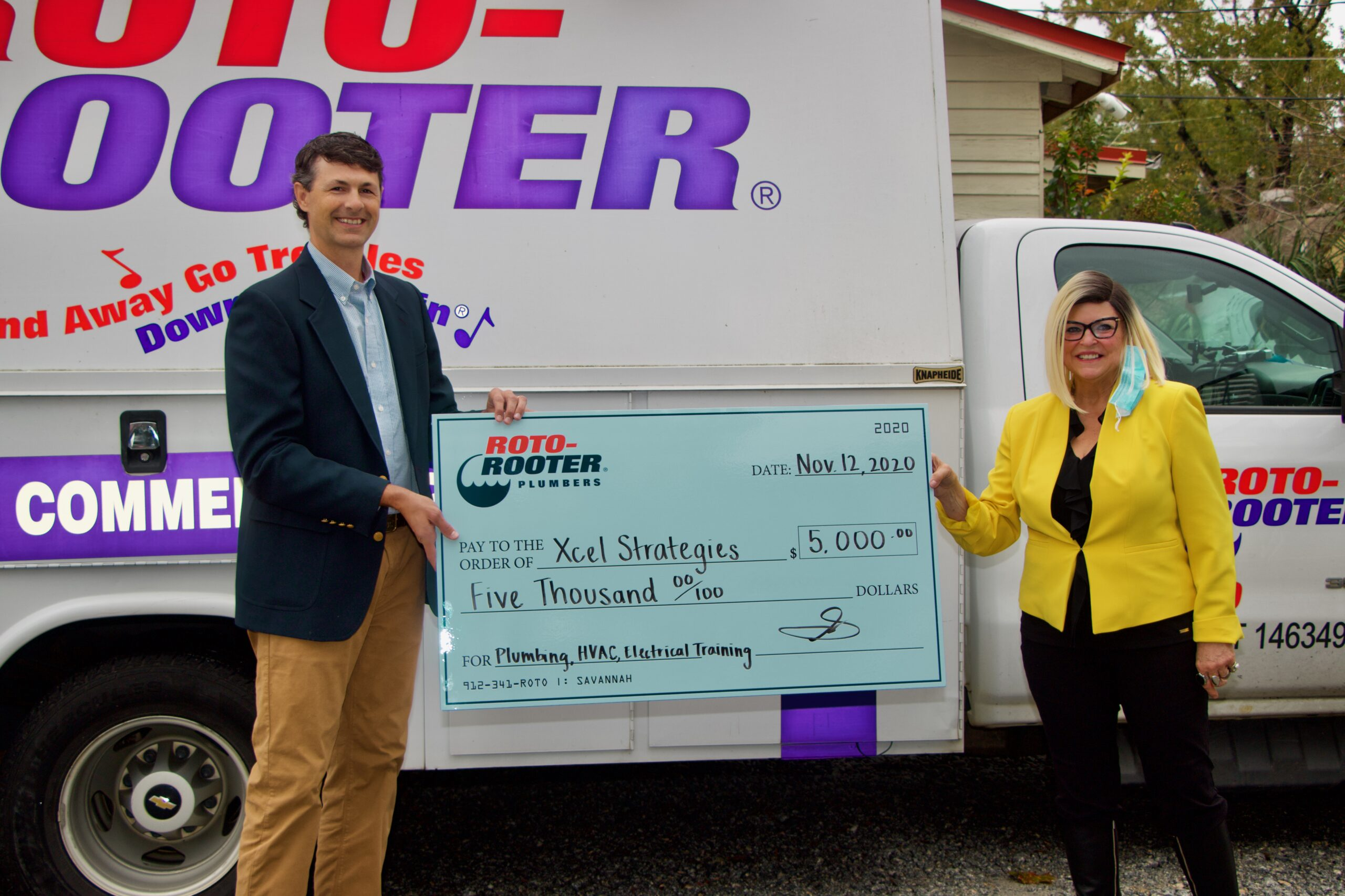 Roto-Rooter of Savannah Supports Xcel Strategies Mentoring Program