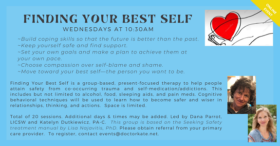 Finding Your Best Self--Wed 10:30am starting March 17