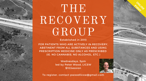 The Recover Group.  Weekly on Wednesdays at 5pm