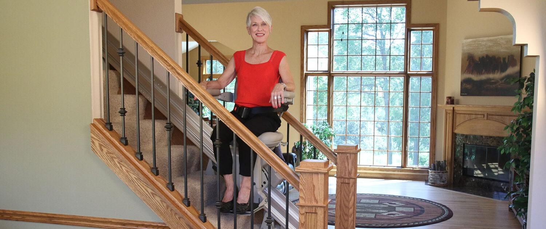 Elite Woman on steps