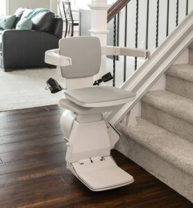 stair lift bruno elan bottom of stairs   web