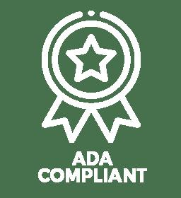 ADA Compliant badge white