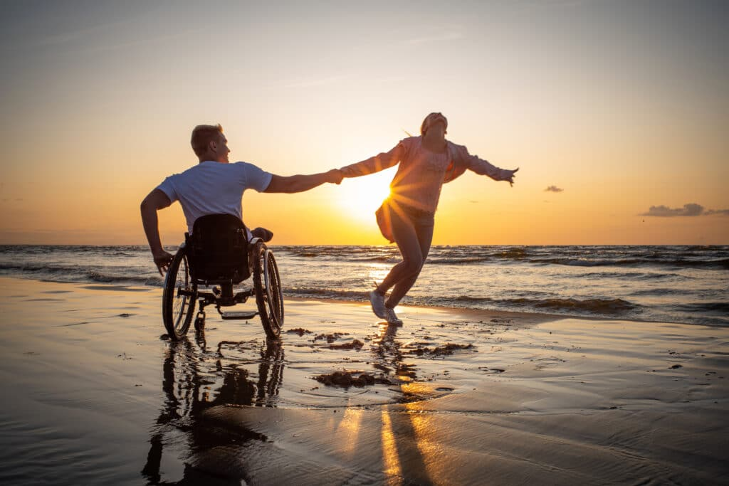 Patriot Mobility Inc. - wheelchair by the beach