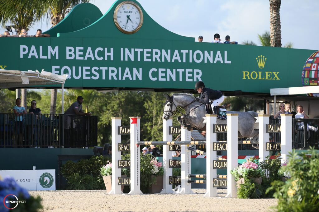Palm Beach Equine Clinic jump at Wellington's Winter Equestrian Festival