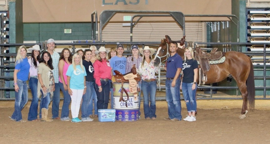 Mater being crowned National Barrel Horse Association (NBHA) Florida State Champion. Photo by Mike Rastelli