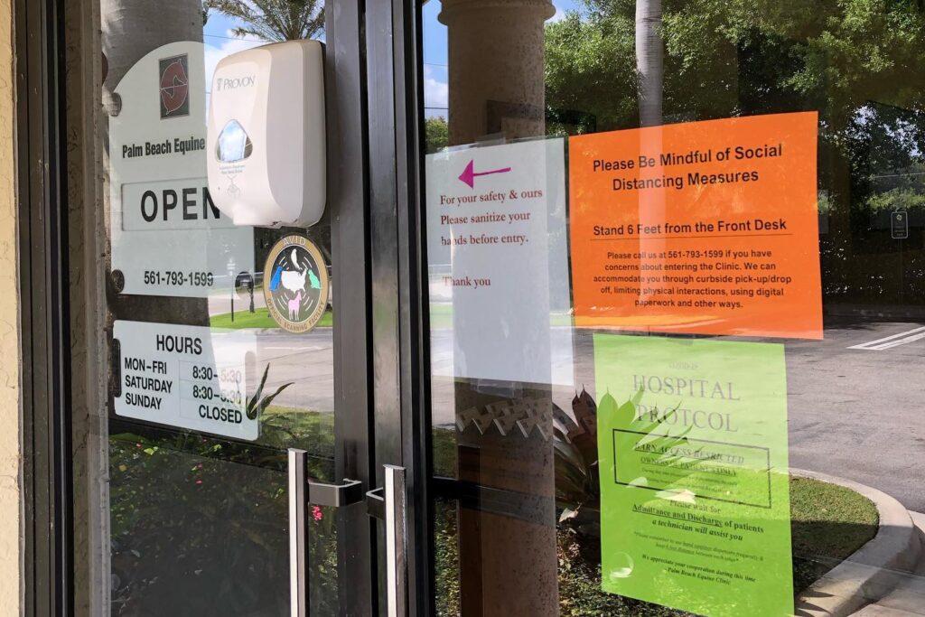 Palm Beach Equine Clinic Coronavirus safety protocols