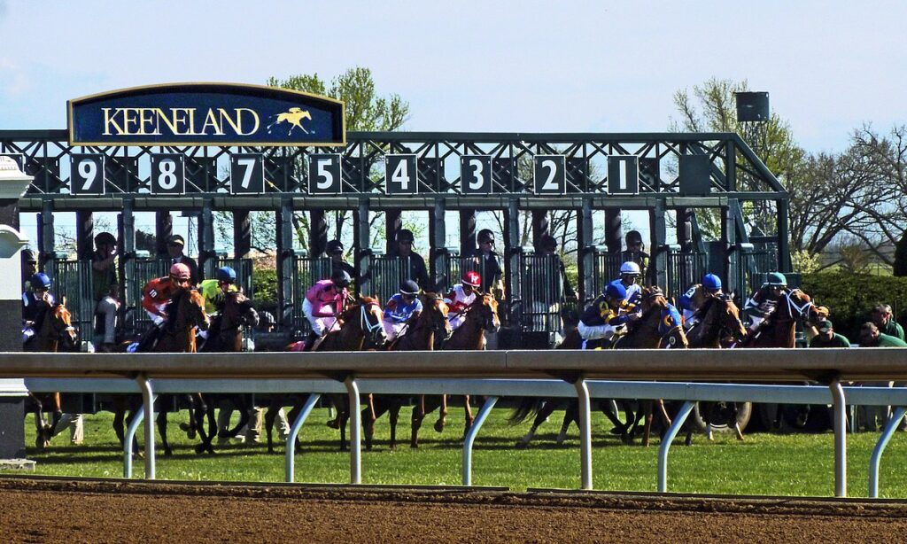 keeneland racing track gate palm beach equine clinic veterinarian david priest