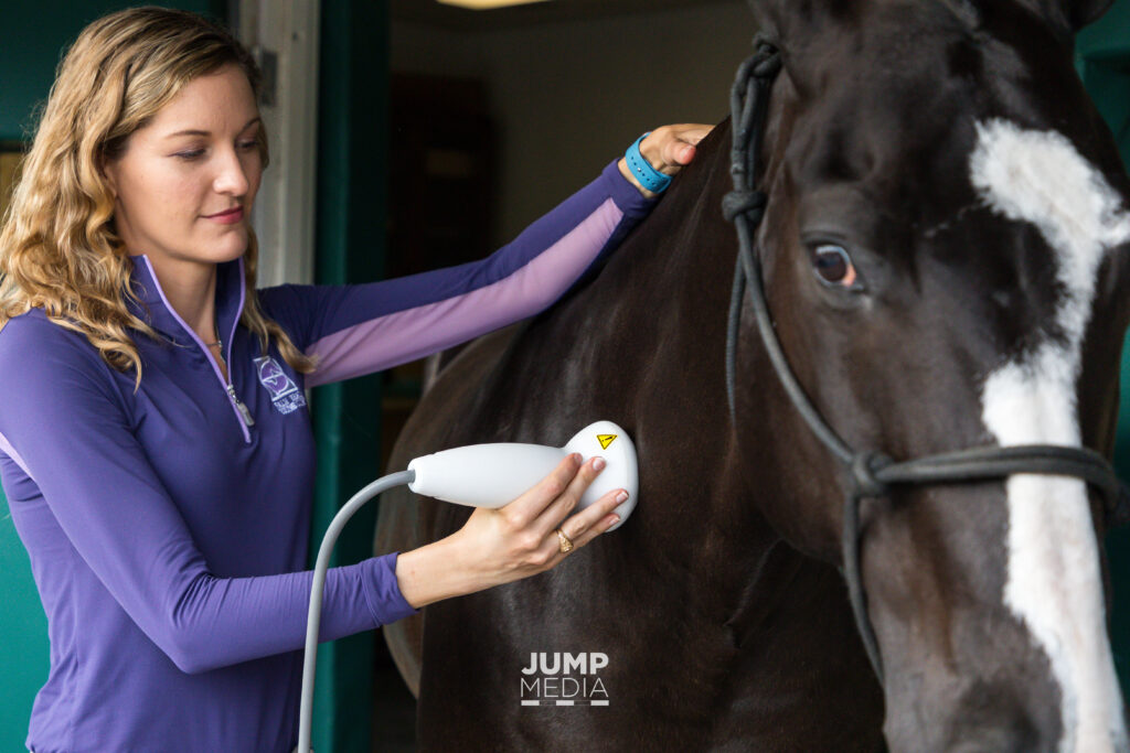 Marilyn Connor shockwave therapy palm beach equine clinic veterinarian