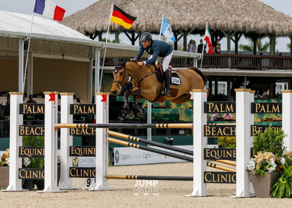 Daniel Bluman and Cachemire de Braize by Jump Media. Sport horse medicine at winter equestrian festival 2021