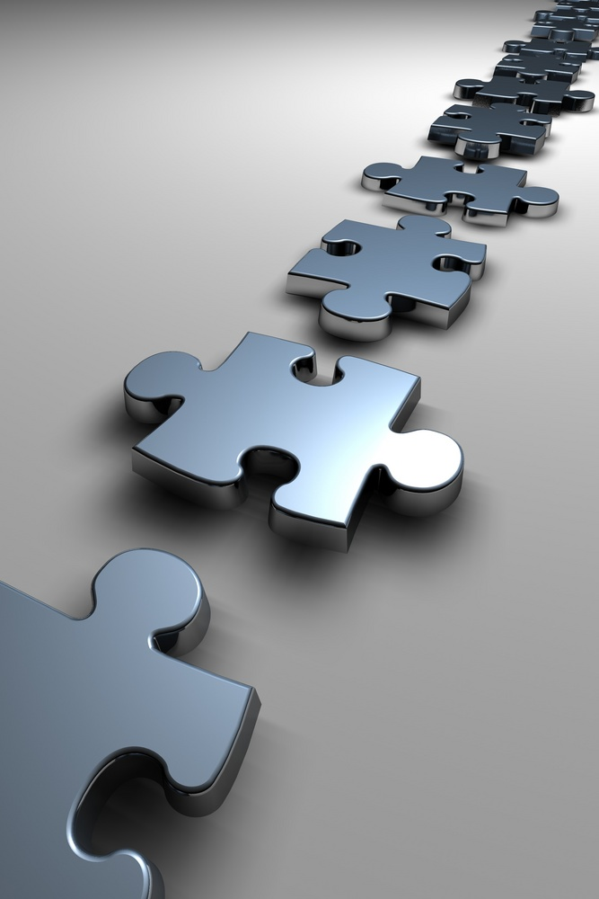 Puzzle silver pieces