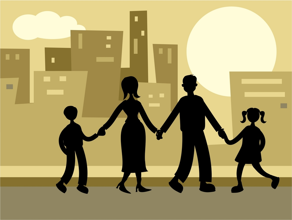 urban family graphic