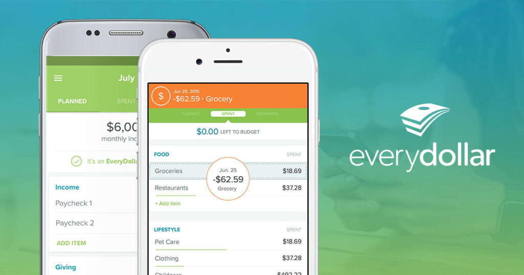 Budgeting hacks like mentally earning next month's rent this month are easy with budgeting apps like EveryDollar.
