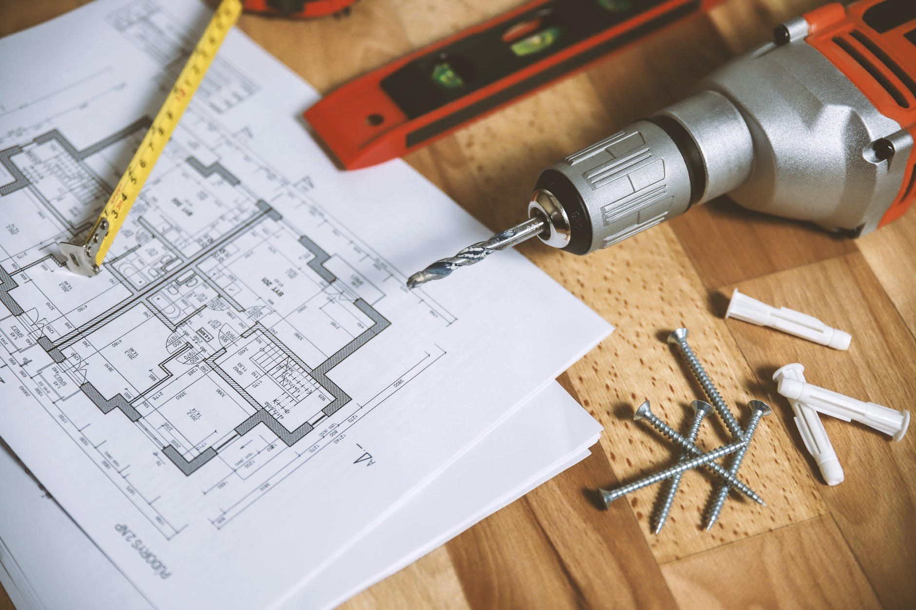 floor plan on table