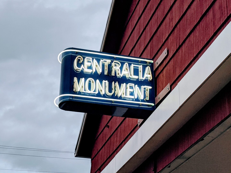 Centralia Monument store sign