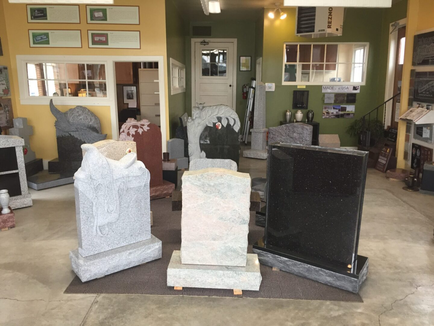Different designs for tombstones