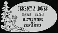 A marker for Jeremy Jones