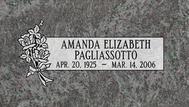 A marker for Amanda Elizabeth Pagliassotto