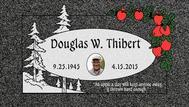 A marker for Douglas Thibert