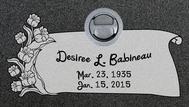 A marker for Desiree Babineau