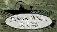 A marker for Deborah Wilson
