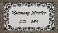 A marker for Rosemary Mueller
