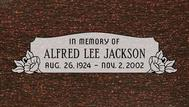 A marker for Alfred Lee Jackson