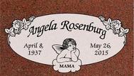 A marker for Angela Rosenburg