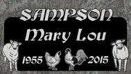 A marker for Sampson Mary Lou