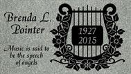 A marker for Brenda Pointer