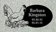 A marker for Barbara Kingston
