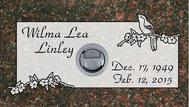 A marker for Wilma Lea Linley