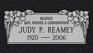 A marker for Judy Reamy