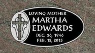 A marker for Martha Edwards