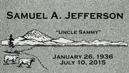 A marker for Samuel Jefferson