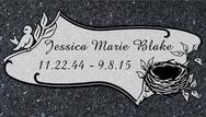 A marker for Jessica Marie Blake