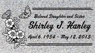 A marker for Shirley Hanley