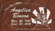 A marker for Angelica Benson