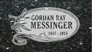A marker for Gordon Ray Messinger