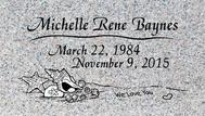 A marker for Michelle Rene Baynes