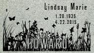 A marker for Lindsay Marie