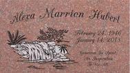 A marker for Alexa Marrien Hubert