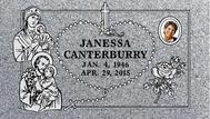 A marker for Janessa Canterbury