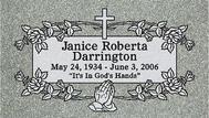 A marker for Janice Roberta Darrington