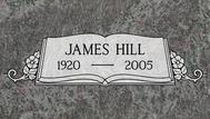 A marker for James Hill