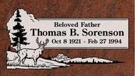 A marker for Thomas Sorenson