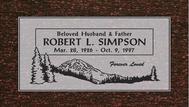 A marker for Robert Simpson